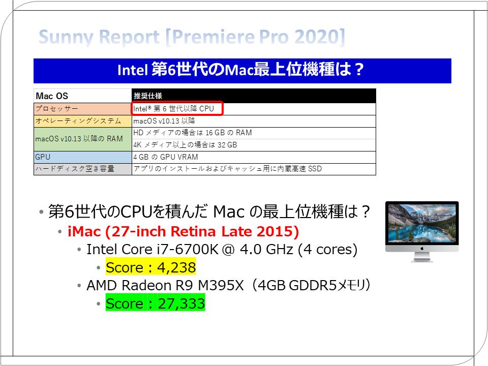 Intel 第6世代のMac最上位機種は?